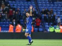 Leicester City forward Shinji Okazaki in action during his side's Premier League clash with Crystal Palace at the King Power Stadium on October 22, 2016