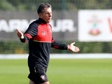 Southampton manager Claude Puel during training ahead of the game against Inter Milan on October 18, 2016