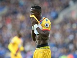 Crystal Palace winger Wilfried Zaha in action during his side's Premier League clash with Leicester City at the King Power Stadium on October 22, 2016