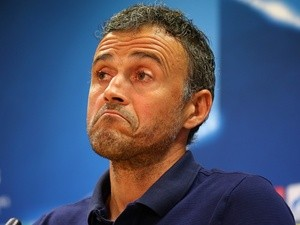 Luis Enrique at the press conference after Barcelona training on October 18, 2016