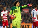 Guillermo Ochoa in action for Granada during their La Liga clash with Barcelona at the Camp Nou on October 29, 2016