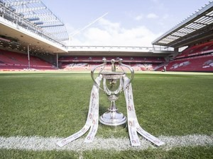 The Four Nations trophy at Anfield on October 23, 2016