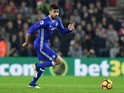 Diego Costa of Chelsea in action during his side's Premier League clash with Southampton at St Mary's on October 30, 2016