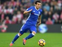 Pedro of Chelsea in action during his side's Premier League clash with Southampton at St Mary's on October 30, 2016