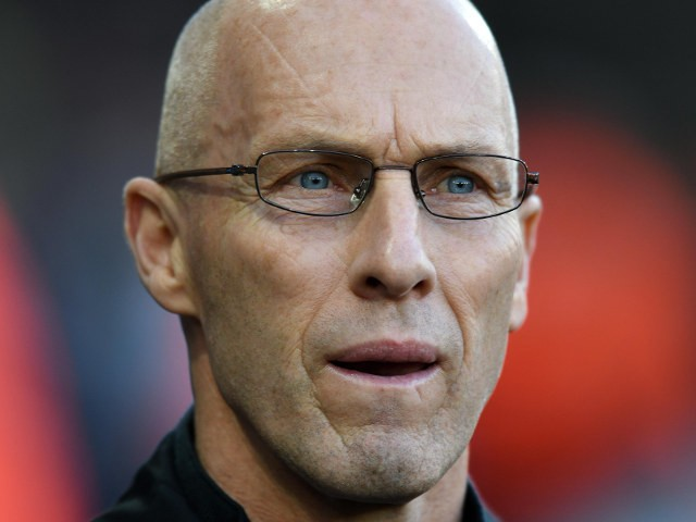 Swansea City manager Bob Bradley looks on ahead of his side's Premier League clash with Manchester United at the Liberty Stadium on November 6, 2016