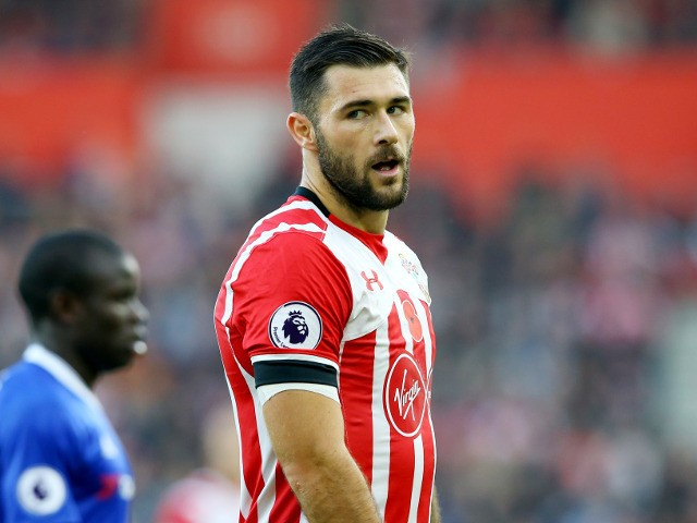 Southampton striker Charlie Austin in action during his side's Premier League clash with Chelsea at St Mary's Stadium on October 30, 2016
