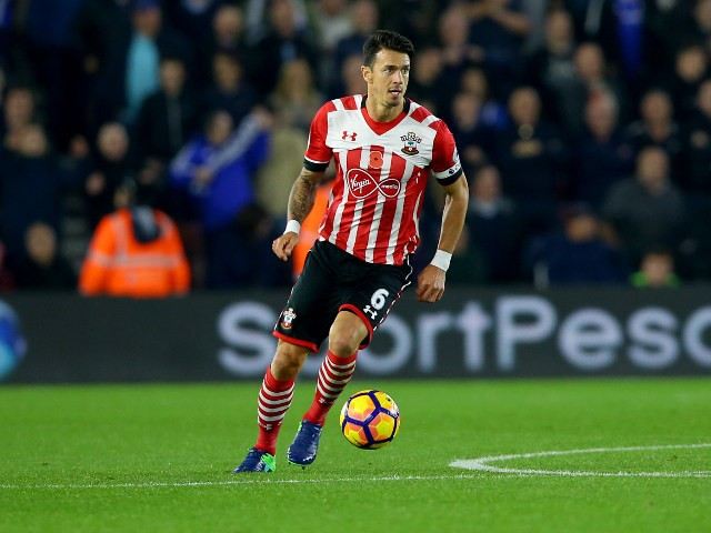 Jose Fonte of Southampton in action during his side's Premier League clash with Chelsea at St Mary's on October 30, 2016