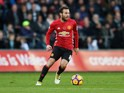 Juan Mata of Manchester United in action during their Premier League clash with Swansea City at the Liberty Stadium on November 6, 2016