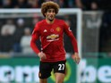 Marouane Fellaini of Manchester United in action during their Premier League clash with Swansea City at the Liberty Stadium on November 6, 2016