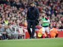Tottenham Hotspur manager Mauricio Pochettino on the touchline during the North London derby at the Emirates Stadium on November 6, 2016