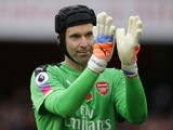 Petr Cech of Arsenal in action during the North London derby at the Emirates Stadium on November 6, 2016