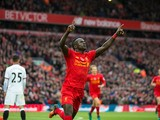 Liverpool forward Sadio Mane celebrates after scoring in his side's Premier League clash with Watford at Anfield on November 6, 2016