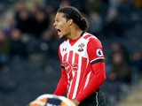 Southampton defender Virgil van Dijk in action during his side's Premier League clash with Hull City at the KCOM Stadium on November 6, 2016