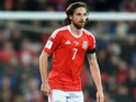 Wales midfielder Joe Allen in action during his side's World Cup qualifier with Serbia on November 12, 2016