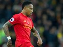 Liverpool defender Nathaniel Clyne in action during his side's Premier League clash with Watford at Anfield on November 6, 2016