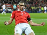 Wales winger Gareth Bale celebrates after scoring during his side's World Cup qualifier with Serbia on November 12, 2016