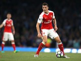 Arsenal midfielder Granit Xhaka in action during his side's Premier League clash with Chelsea at the Emirates Stadium on September 24, 2016