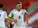 England Under-21s midfielder James Ward-Prowse in action during his side's friendly against Italy Under-21s on November 10, 2016