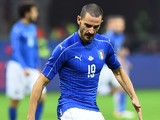 Italy defender Leonardo Bonucci in action for his side during the international friendly with Germany in Milan on November 15, 2016