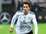 Germany defender Mats Hummels in action for his side during the international friendly with Italy in Milan on November 15, 2016