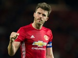 Manchester United midfielder Michael Carrick in action during his side's EFL Cup clash with Manchester City at Old Trafford on October 26, 2016