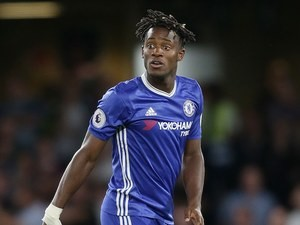 Michy Batshuayi in action for Chelsea on August 20, 2016
