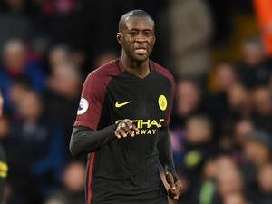 Yaya Toure in action during the Premier League game between Crystal Palace and Manchester City on November 19, 2016
