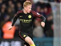 Kevin De Bruyne in action for Manchester City on November 19, 2016