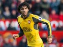 Arsenal midfielder Mohamed Elneny in action during the Premier League clash with Manchester United at Old Trafford on November 19, 2016