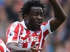 Wilfried Bony in action for Stoke City on September 10, 2016