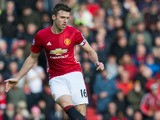 Manchester United midfielder Michael Carrick in action during the Premier League clash with Arsenal at Old Trafford on November 19, 2016