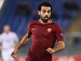 Mohamed Salah in action during the Europa League game between Roma and Viktoria Plzen on November 24, 2016