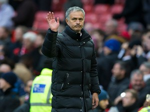 Manchester United manager Jose Mourinho on the touchline during his side's Premier League clash with Arsenal at Old Trafford on November 19, 2016
