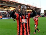 Benik Afobe celebrates after the Premier League game between Bournemouth and Liverpool on December 4, 2016