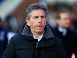 Claude Puel watches on during the Premier League game between Crystal Palace and Southampton on December 3, 2016