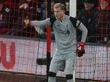 Loris Karius during the Premier League game between Bournemouth and Liverpool on December 4, 2016