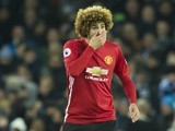 Marouane Fellaini in action during the Premier League game between Everton and Manchester United on December 4, 2016
