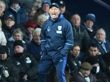 Tony Pulis barks orders during the Premier League game between West Bromwich Albion and Watford on December 3, 2016