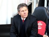 Claude Puel watches on during the Premier League game between Southampton and Middlesbrough on December 11, 2016