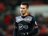 Dusan Tadic in action during the Premier League game between Stoke City and Southampton on December 14, 2016