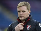 Eddie Howe watches on during the Premier League game between Burnley and Bournemouth on December 11, 2016