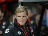 Eddie Howe watches on during the Premier League game between Bournemouth and Leicester City on December 13, 2016