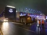 A general view of Goodison Park at night
