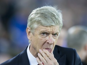 A pensive Arsene Wenger during the Premier League game between Everton and Arsenal on December 13, 2016