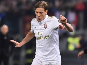 Ignazio Abate in action during the Serie A game between Roma and Milan on December 12, 2016