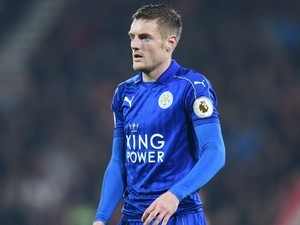 The delightful Jamie Vardy in action during the Premier League game between Bournemouth and Leicester City on December 13, 2016