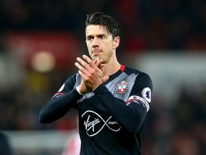 Jose Fonte in action during the Premier League game between Stoke City and Southampton on December 14, 2016