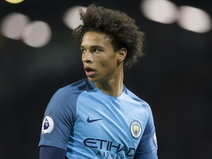 Leroy Sane in action during the Premier League game between Manchester City and Arsenal on December 18, 2016
