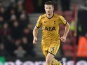 Eric Dier in action during the Premier League game between Southampton and Tottenham Hotspur on December 28, 2016