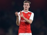 Rob Holding in action for Arsenal on October 25, 2016